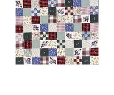 Cozy Comforter Quilt -Finish a quilt this weekend: Sew flannel squares into a quilt top, tie the quilt top to batting and backing, then snuggle up under it