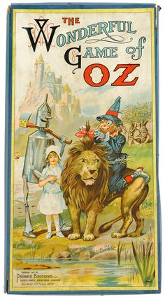 Wizard of Oz board game, sold by Parker Bros. in 1921