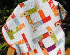 quilt PATTERN baby to king. Charm Squares, Layer Cake, Jelly Roll or Fat Quarters .Tea Party via Etsy Jellyroll Quilts, Lap Quilts, Strip Quilts, Patchwork Quilting, Scrappy Quilts, Quilt Blocks, House Quilts, Quilting Projects, Quilting Designs