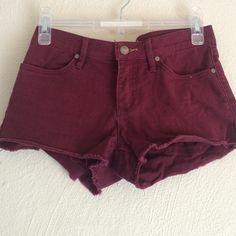 Maroon / Burgundy Shorts super cute. no flaws. no lowballing. Brand is roxy! Brandy Melville Shorts Jean Shorts