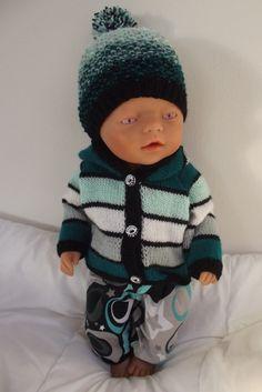 Oblečky pro panenky - smaragdovo-mentolový komplet