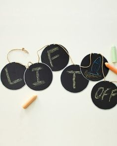 I think I need this Chalkboard Message Garland..not sure what for at the moment, but I need it.