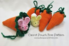 Amigurumi To Go: Carrot Pouch Tutorial