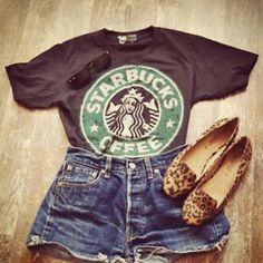 I want a Starbucks tee! Who doesn't!  LOVE THE