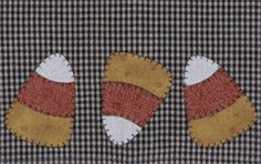 Candy Corn Patternlet by the Wooden Bear At KayeWood.com. Each Patternlet shows you how to make a simple tea towel, but appliques are so versatile, they shouldn't only be used as the pattern instructs. http://www.kayewood.com/Candy-Corn-Applique-Patternlet-by-The-Wooden-Bear-WB-CACO.htm $4.75