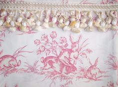 ZsaZsa Bellagio: Once upon a Toile Custom Shades, Repeating Patterns, Pattern Wallpaper, Wall Colors, Tapestry, Throw Pillows, Bunny, Fabrics, Sweet
