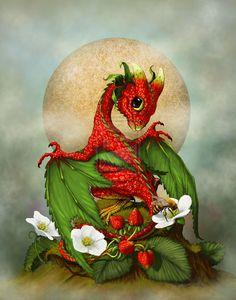 Strawberry Dragon by SMorrisonArt.deviantart.com on @deviantART