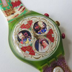 Vintage Swatch Watch Russian Treasury SCG107 Chrono by CoolRelics