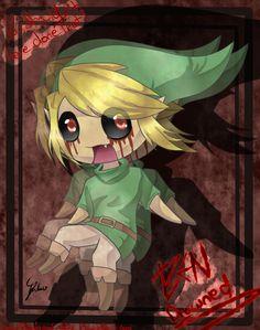 Cute Ben Drowned Anime | creepypasta]-chibi BEN drowned::. by Shikubii