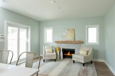 In love with this color for the living room! -Benjamin Moore CC-700 Smoky Green