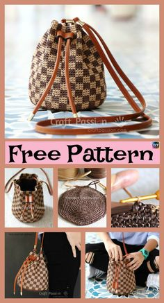 diy4ever Crochet Raffia Bucket Bag Free Pattern P1 - Crochet Raffia Bucket Bag - Free Pattern