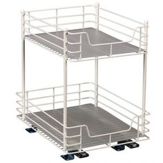 Household Essentials 21216 12-in Two Tier Sliding Pantry Organizer