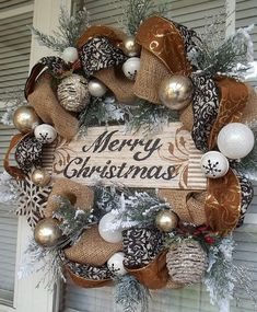 WOODLAND CHRISTMAS - Rustic & Metallic Holiday Christmas Wreath Decoration by DecorClassicFlorals, $159.95                                                                                                                                                                                 More