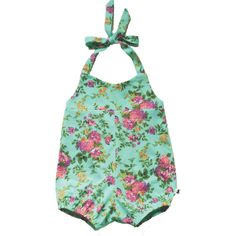 Romper - Flowers on Aqua - Little & Lively - 1 Rompers For Kids, Easter Dress, Kids Playing, Cute Kids, Baby Kids, Kids Outfits, Aqua, One Piece