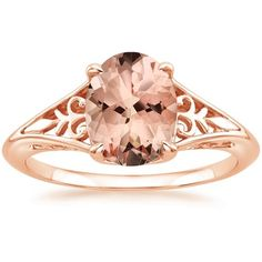 14K ROSE GOLD MORGANITE FLORENCE RING from Brilliant Earth