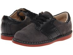 The Connor by Footmates is a classic and traditional saddle oxford that is perfect for any occasion! A suede gray leather upper with contrasting smooth black l Little Boy Fashion, Kids Fashion, Back To School Shoes, Saddle Oxfords, Smooth Leather, Wedding Shoes, Oxford Shoes, Dress Shoes, Lace Up
