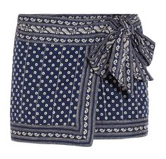 Flower Prints!: ÉTOILE ISABEL MARANT - Lyne wrap-effect printed cotton mini skirt / Garance Doré
