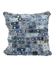Take a look at this Button Denim Pillow by Nourison on #zulily today!