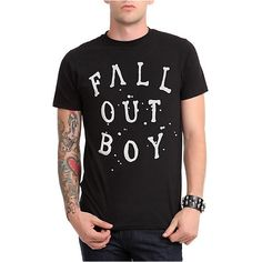 Fall Out Boy Arch T-Shirt | Hot Topic ($15) ❤ liked on Polyvore featuring tops, t-shirts, shirts, logo shirts, logo t shirts, logo tee, tee-shirt and splatter shirt