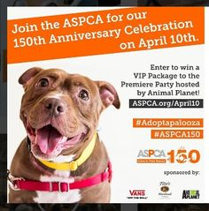 f78da0761 Join the ASPCA in celebrating 150 years of saving lives!