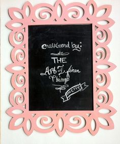 Lg. Coral Pink Laser Cut Wood Frame by TheArtOfFinerThings on Etsy