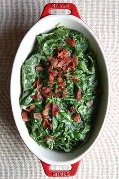 Best Creamed Bacon Spinach Recipe-How To Make Creamed Bacon Spinach—Delish.com