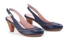 Blue Excessive Heel Leather-based Footwear Ankle strap footwear Elegant Women Footwear-2 - http://shoebrand.net/blue-high-heel-leather-shoes-ankle-strap-shoes-elegant-women-shoes-2/