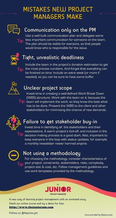The Mistakes New Project Managers Make Infographic presents some mistakes done by inexperienced project managers and some tips how to avoid them. Lean Six Sigma, Process Improvement, Instructional Design, Work Inspiration, Educational Technology, Project Management, Mistakes, Leadership, Communication