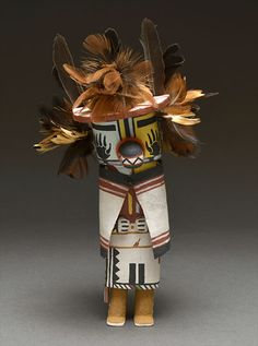 Badger Kachina Doll by Fannon Mowa (Hopi)