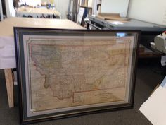 Antique maps are a hot item these days, make sure to keep them from damage by framing it with archival materials!