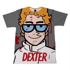 Checkout this hilariously sick Dexter Morgan t-shirt. This t-shirt features character Dexter combined with the cartoon series of Dexter's laboratory. This is seriously an epic t-shirt that you must ha