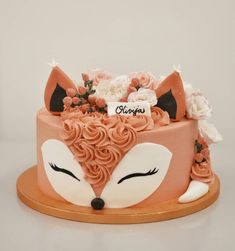 Cake with lemon crown - HQ Recipes Pretty Birthday Cakes, Birthday Cake Girls, Pretty Cakes, Cute Cakes, Animal Birthday Cakes, Bolo Tumblr, Wolf Cake, Bithday Cake, Star Cakes