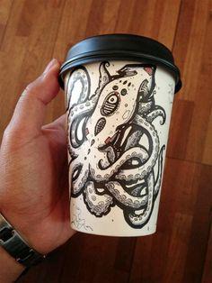 gobelet à café illustré coffeecupart00