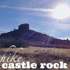 hike to the top of castle rock. castle rock, colorado.