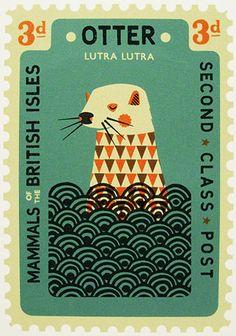 retro vintage stamp