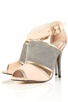 TopShop | Razzle Colour Block Sandals $90 Tip: {pair with a blush toned blouse and white skinnies}
