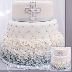 Baptism or first communion Cake , Pastel de primera comunion o bautizo #baptismcake #pasteldebautizo #firstcommunioncake #pasteldeprimera comunion