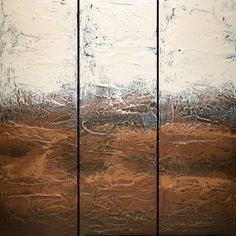 EXTRA LARGE WALL art triptych 3 panel wall earth Large Painting, Hand Painting Art, Painting Frames, Painting Canvas, 3 Panel Wall Art, Triptych Wall Art, Original Paintings For Sale, Extra Large Wall Art, Art Auction