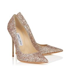 The Jimmy Choo nude shadow coarse glitter ANOUK pumps