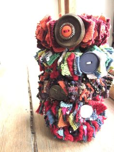 Recycled Sweater Bracelet Cuff in Dark Red by GarageCoutureClothes, $6.00