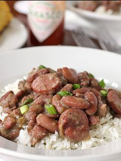 Cajun Red Beans and Rice for Mardi Gras