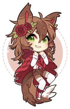 Chibi 94 48 Beautiful Chibi Hackwolfin 1 2 by Cookiehana On Deviantart Kawaii 365, Manga Kawaii, Kawaii Anime Girl, Kawaii Chibi, Chibi Girl Drawings, Cute Kawaii Drawings, Dibujos Anime Chibi, Cute Anime Chibi, Anime Wolf Girl