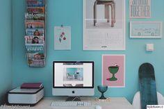 Postereita ja tauluja työpisteen seinällä. #inspiroivakoti #styleroom #workroom #pastels #posterwall #wall Täällä asuu: Lighthouserd-Elisa Gallery Wall, Frame, Home Decor, Picture Frame, Decoration Home, Room Decor, Frames, Hoop, Interior Decorating