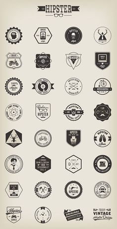 Hipster design Art - A set of 32 Hipster badges designed by Vecteezy The überfashionable badges come in different file formats, including PNG and vector with editable fonts Hipster Design, Hipster Logo, Hipster Brands, Hipsters, Logo Montagne, Print Design, Web Design, Vintage Hipster, Vintage Logos