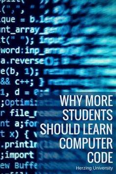 Why More Students Should Learn Computer Code