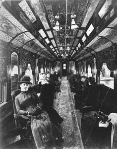 Interior of C. drawing room car, Montreal, QC, composite, 1886 - The Notman collection has quite a number of composite photographs and they are a great way to see the who's who of Montreal society. Antique Photos, Vintage Pictures, Vintage Photographs, Old Pictures, Old Photos, Foto Real, Old Trains, Le Far West, Historical Pictures