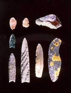 Ancient tools of earliest inhabitants of Oregon, USA.
