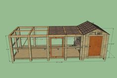Chicken Coop Plan Hi I'm new to this forum and we aren't due to get are chicks until April so it's still quite… Chicken Hut, Walk In Chicken Coop, Cute Chicken Coops, Diy Chicken Coop Plans, Chicken Cages, Portable Chicken Coop, Chicken Life, Chicken Coop Designs, Backyard Chicken Coops