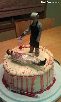 Dexter Birthday Cake some make me this! June 23rd is the b-day.