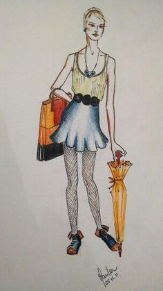 bright #yellowumbrella #fashiondesign #fashion #summer #summerclothes